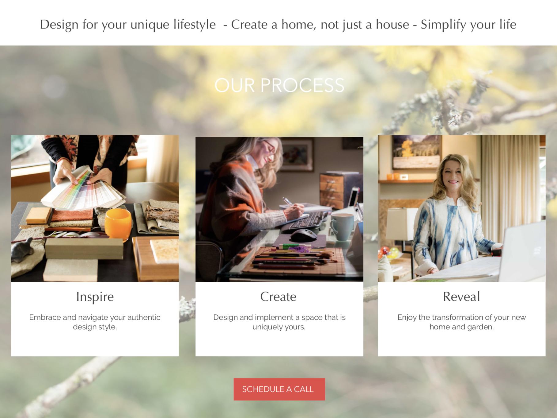Tamara Soreano Design Landing Page